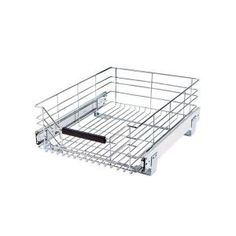 Seville Classics UltraDurable Commercial-Grade Pull-Out Sliding Steel Wire Cabinet Organizer for Shelving with Wheels, W x D, Chrome Wire Shelving Units, Cabinet Shelving, Kitchen Cabinet Pulls, Shelving Racks, Shelving Systems, Cabinet Drawers, Storage Drawers, Steel Cabinet, Shelf Units