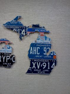License Plate State of Michigan Map 225L X by LicensesPlateHeaven, $59.00
