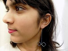 titanium earringshandmadefor her by atermono on Etsy