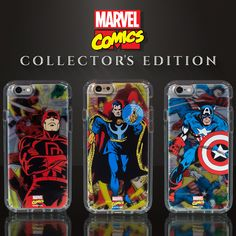 Marvel Collector's Edition   Limited edition transparent Speck clear cases inspired by the Golden age of Marvel Comics. These special designs are exclusively available for iPhone 6/6s cases & iPhone 6/6s Plus cases at www.skinit.com #Marvel #MarvelCollectorsEdition #iPhone #iPhonecase #iPhone6
