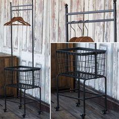 wash fold and hang rolling cart