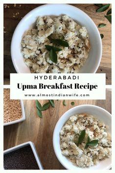 Hyderabadi Upma Breakfast Recipe