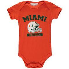 Infant Green Miami Hurricanes Football Bodysuit