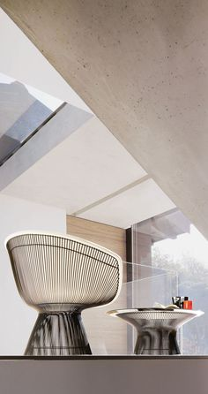 It requires over 1,000 welds and more than 100 cylindrical steel rods to make the Platner Lounge Chair