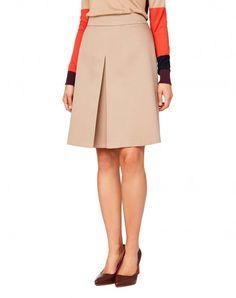 Achetez Skirt with maxi pleat Beige pour Jupes dans la boutique officielle en…