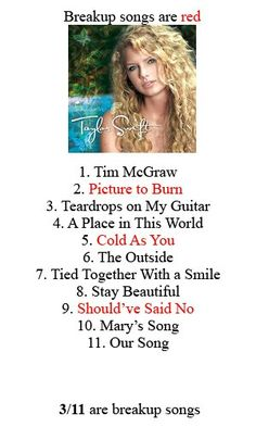 Seriously!!!!! She doesn't just write breakup songs people!!!!!