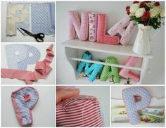 DIY Pillows Made into Letters diy diy crafts do it yourself letter pillow pillow crafts