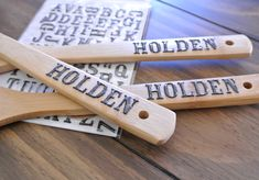 Cathe Holden using Plastic Dip on wooden spoons - functional (names) and decorative