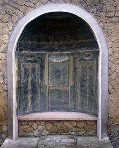 Detail Of Painted Larium, Pompeii #archeology #house #ruins #history #pompeii…
