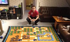 3 map crocheted into blanket by game fan! It took Kjetil Nordin of Denmark 800 hours over 6 years to hand-crochet this amazing blanket. What a fan!