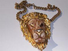 Vintage Razza Zodiac Leo Lion Necklace $85.00 or best offer.
