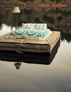 nothing more relaxing than a bed in the middle of a lake... #teatime https://www.facebook.com/CelestialSeasonings