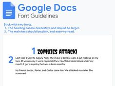 Download my Google Docs Font Guidelines Presentation Software, Spelling And Grammar, Literacy Skills, Google Docs, Writing Process, Learning Centers, Graphic Organizers, Student Work, Sentences