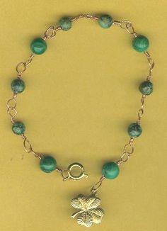St. Patrick's Day Jewelry Projects: Lucky Gemstone & Wire Bracelet