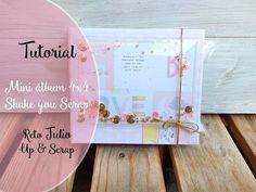 Mini álbum - Shake, shake, shake your scrap! Mini Scrapbook Albums, Baby Scrapbook, Mini Album Tutorial, Mini Albums Scrap, Baby Album, Crate Paper, Album Book, Album Photo, Mini Books