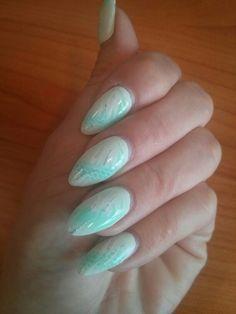 #summer #mint #nails #airbrush