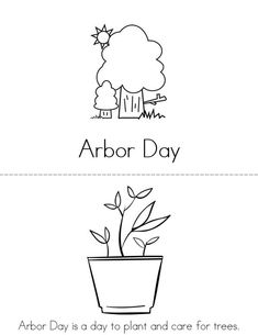 arbor day mini book sheet 1