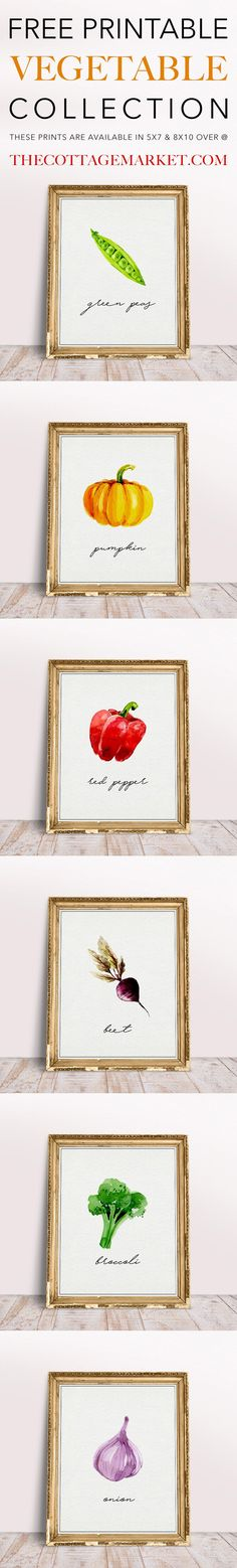 It's once again Free Printable Friday and Free Printable VegetableCollection Part 2 for you and we sooooo hope you enjoy them all! This six piece collection will look amazing on your kitchen gallery wall or on your shelf or anywhere you can imagine!! So many possibilities and I know you will come up with something …