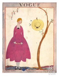 Vogue Cover - May 1917 Regular Giclee Print by Georges Lepape at Art.com