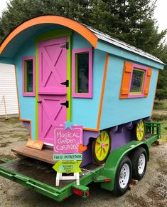 Bring a bit of magic to your life and garden with a unique backyard Bohemian Caravan from Magical Garden Caravans on Sunshine Coast BC. The caravans can. Prosecco Bar, Sunshine Coast Bc, Caravans For Sale, Play Houses, Art Studios, Studio Musicians, Meditation, Projects To Try, Backyard