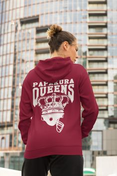 Womens Queens Classic Hoodie American Football, Hoodies, Sweatshirts, Queens, Graphic Sweatshirt, Comfy, Knitting, Classic, Sweaters