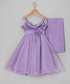 Loving this Orchid Rosette Heart Dress & Wrap - Toddler on #zulily! #zulilyfinds