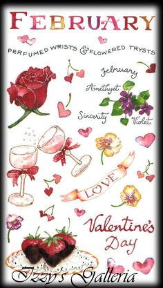 Susan Branch Vintage Retired February Valentine's Day Love Roses Hearts Stickers | eBay