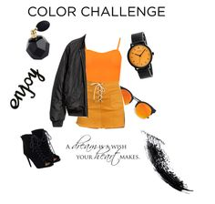 """""""ORANGE & BLACK"""" by thatgirlangie on Polyvore featuring interior, interiors, interior design, home, home decor, interior decorating, WearAll, LULUS, Simplify and JustFab"""