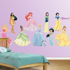 Having One Or More Of The Disney Princesses On The Wall In The Kids Room Is A Great Way To Brighten Any Child S Day Especially Little Princesses Who Love
