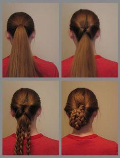 Victorian Hair style, long hair