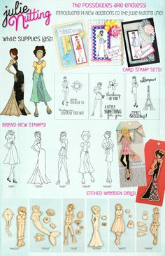 14 new additions to the Julie Nutting Prima Paper Doll collection .... and they are ALL on their way to Simple Pleasures!