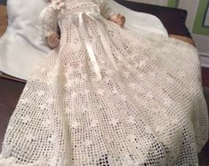 crochet pattern for baby Andrea christening by PatternsbyHalina