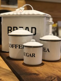 Vintage Inspired Canisters are just the perfect pieces to help you with your kitchen organization. Fat Chef Kitchen Decor, Diy Kitchen, Kitchen Design, Kitchen Ideas, Kitchen Black, Kitchen Paint, Kitchen Utensils, Primitive Kitchen, Rooster Kitchen