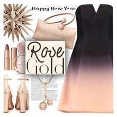 """So Pretty: Rose Gold Jewelry"" by sofi-danka ❤ liked on Polyvore featuring Valentino, Halston Heritage, Charlotte Tilbury, Skagen, Bulgari, Steve Madden and rosegold"