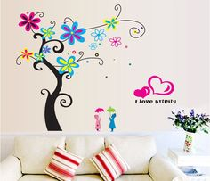 ufengke® romantiche farfalle fiore di ciliegio adesivi murali ... - Adesivi Murali Per Camera Da Letto