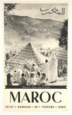 Morocco poster art  - Maroc Désert Expérience tours…