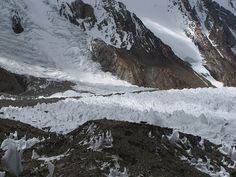 K2 Base Camp K2 Base Camp way out in the distance while on the Gondogoro La Trek in ...