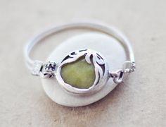 UNIQUE  fashion organic leaf bold trendy gemstone bracelet