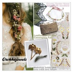 """Orchhajewels"" by teoecar ❤ liked on Polyvore featuring Needle & Thread, Sharon Wauchob, country, cassiopeiafall and orchhajewels"