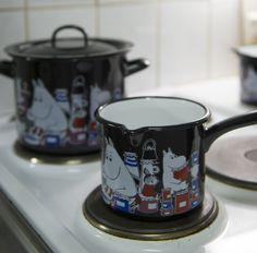 Muumi Jam emalikattila ja -kasari / Moomin Jam enamel casserole and sauce pan #Muurla