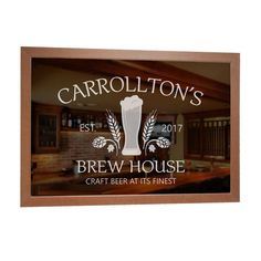 Shop & personalize now our custom craft beer bar mirror, and have your name or other text engraved with the craft beer image shown. A great gift for any craft beer enthusiast!