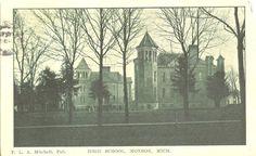 Monroe,MI. The High School 1911
