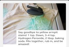 Remove armpit stains with these 3 easy to find cleaners.. fast results instantly