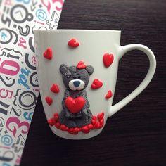 Еще один мишка ко Дню святого Валентина. Эта и следующая чашечка еще в наличии…