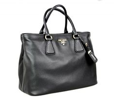 Prada Women s 1BA794 Black Leather Shoulder Bag 43da8b063ee00