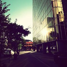 Jasper Avenue. Edmonton Alberta Canada.
