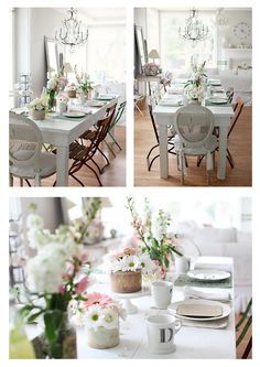 shabby chic #cottage #country #dining