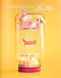 mensaje en una botella... ups en un tarro