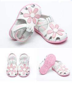 8b3f97d0d 2018 NEW child sandals HOT Sale 1pair Flower Orthopedic Genuine Leather  Sandals