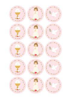 Première Communion, First Holy Communion, Recuerdos Primera Comunion Ideas, Christening Party Decorations, Clock Printable, Etiquette Vintage, Eid Cards, Happy Birthday Signs, First Communion Invitations